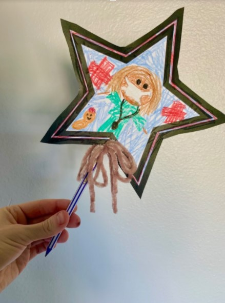 Star Pencil Topper Example